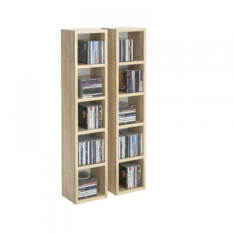 Cd Regal Eiche Dvd Stand Medien Aufbewahrung Moebel Design Sonoma