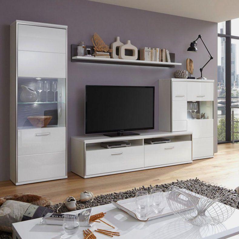 Charmant Poco Wohnwand Fotos  Wohnzimmer Dekoration Ideen von Wohnwand Nussbaum Weiß Poco Photo