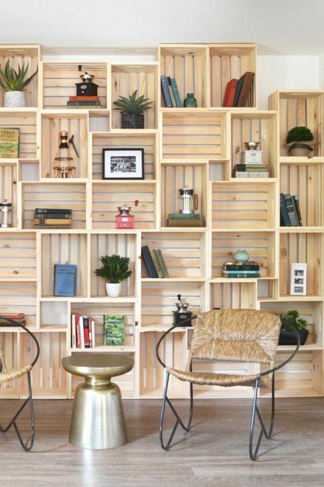 Charming Idea Regal Als Raumteiler Selber Bauen Weinkisten Für Eine von Raumteiler Selber Bauen Anleitung Bild