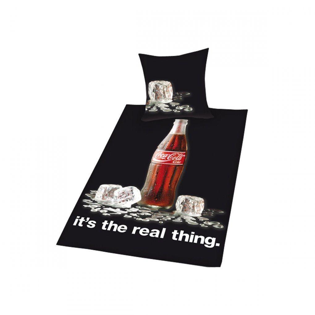 Coca Cola  Schwarz Bettwäsche Bottle Icecubs von Coca Cola Bettwäsche Bild