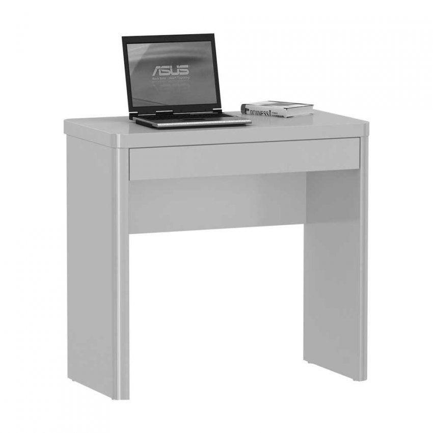 Computertisch In Weiß Hochglanz  Jonna  Pharao24 von Pc Tisch Weiss Hochglanz Bild