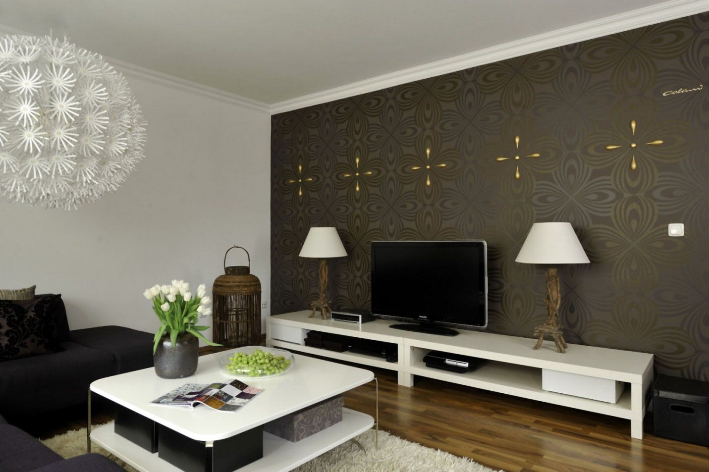 Cool Wohnzimmer Gestalten Tapeten Attraktiv Modell Raum For Lovely Von  Wohnzimmer Gestalten Mit Tapeten Photo