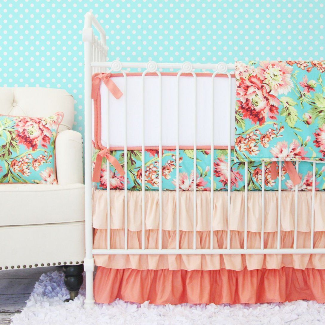 Coral Camila Ruffle Baby Bedding  Baby Kind Babys Und Kind von Baby Bettwäsche Nähen Photo