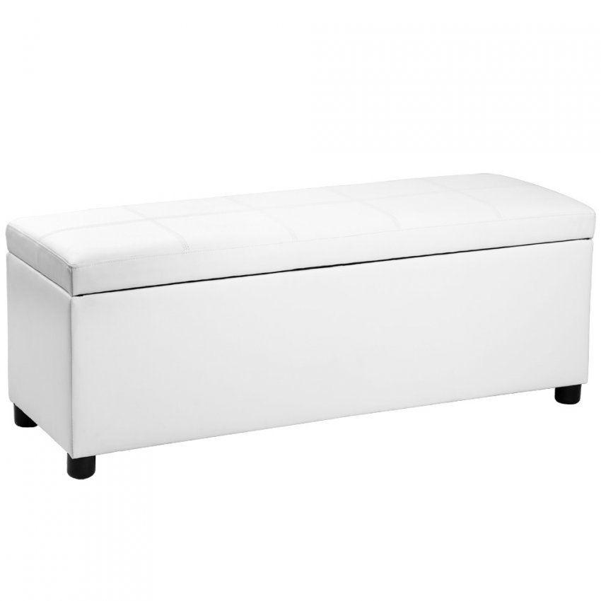 Corium® Ottomane Nachttisch Sitzhocker Sitz Truhe Hocker Schwarz von Hocker Vor Dem Bett Photo