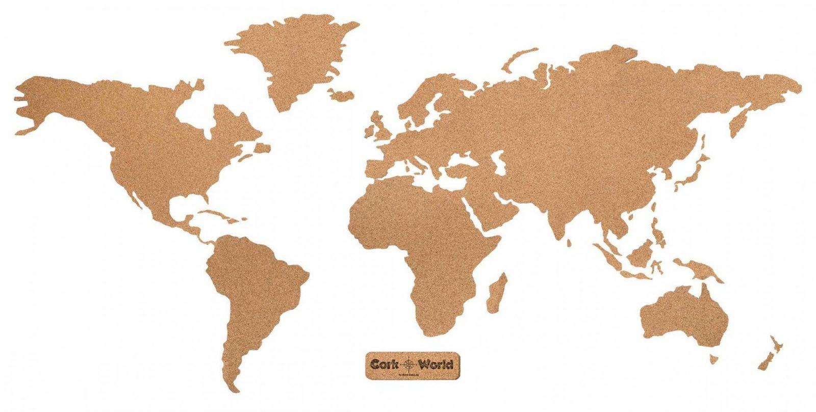 Corkworld – Weltkarte Als Pinnwand Aus Kork Xxl 210X105 Cm von Weltkarte Kork Selber Machen Photo