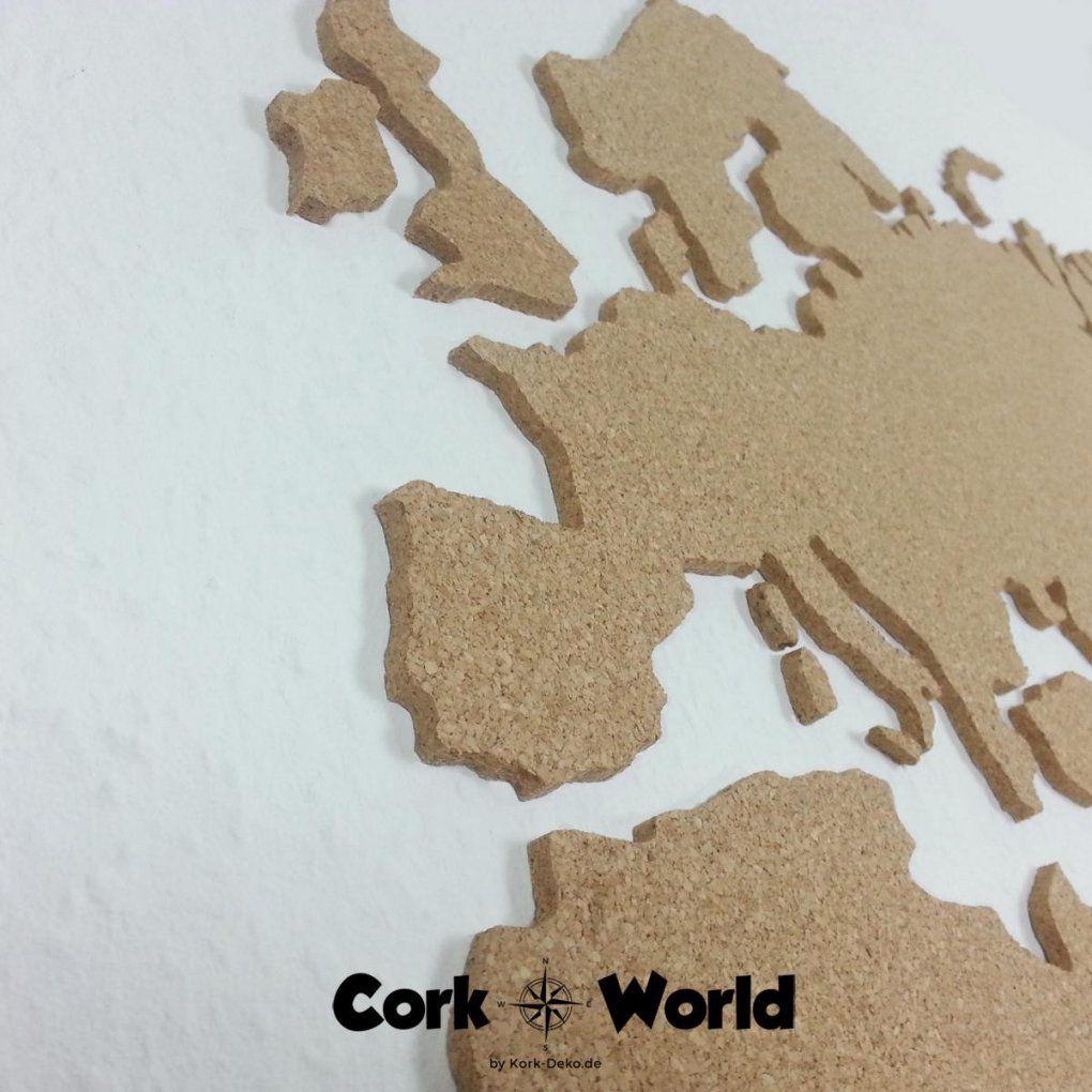 Corkworld  Weltkarte Aus Kork  Die Pinnwand Für Individualisten von Weltkarte Kork Selber Machen Photo