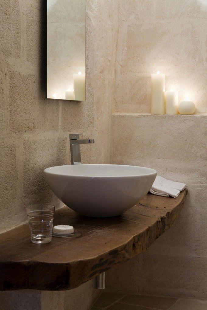 Corte San Pietrodaniela Amoroso  Aufsatzwaschbecken Altes Holz von Waschtisch Holz Mit Aufsatzwaschbecken Photo