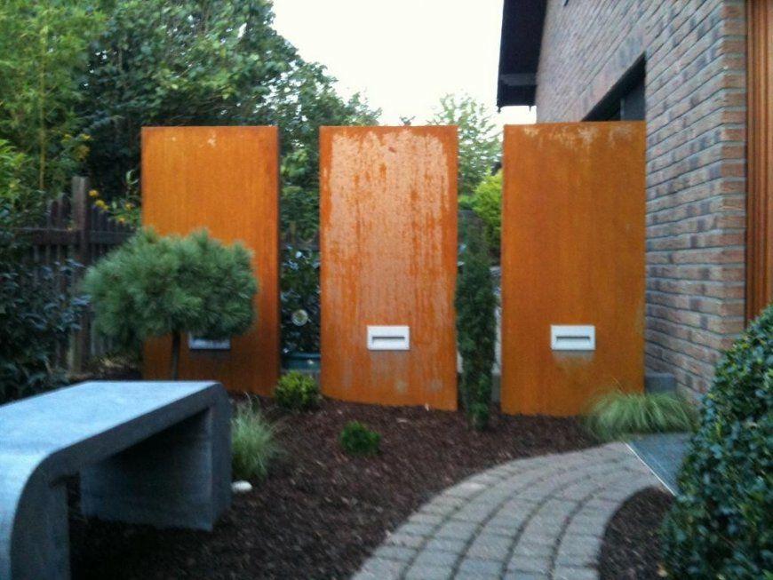 Cortenstahl Sichtschutz Für Garten  Die Schönsten Einrichtungsideen von Cortenstahl Sichtschutz Für Garten Bild