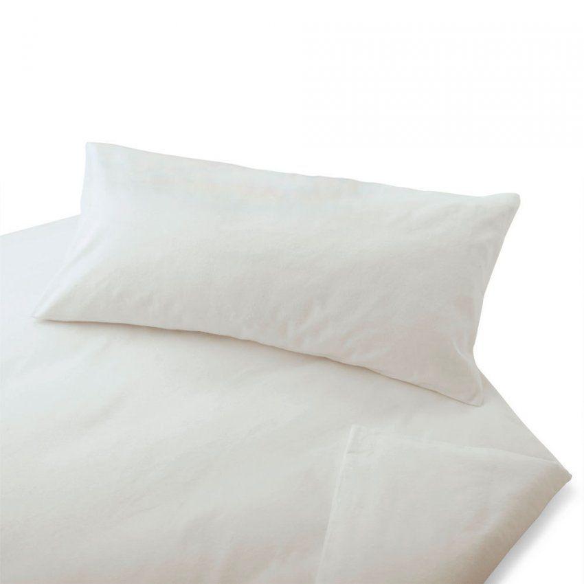 Cotonea Biber Bettwäsche Uni Weiß Biobaumwolle Günstig Online von Biber Bettwäsche Einfarbig Bild