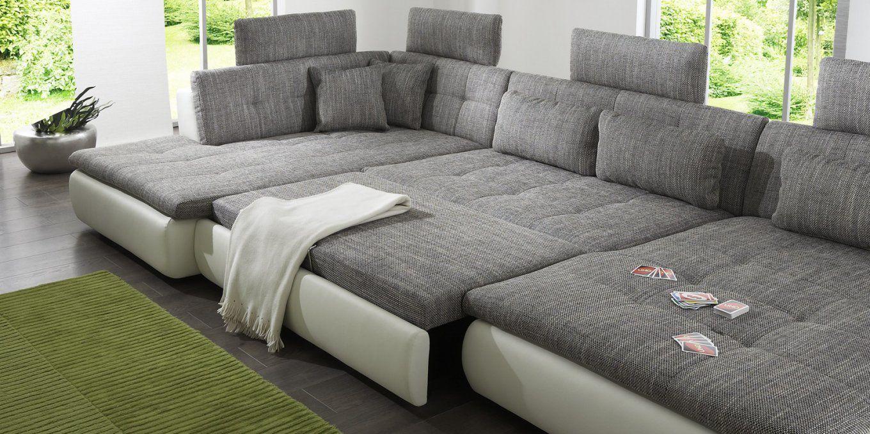 Couch U Form Schlaffunktion von Xxl Wohnlandschaft U Form Photo