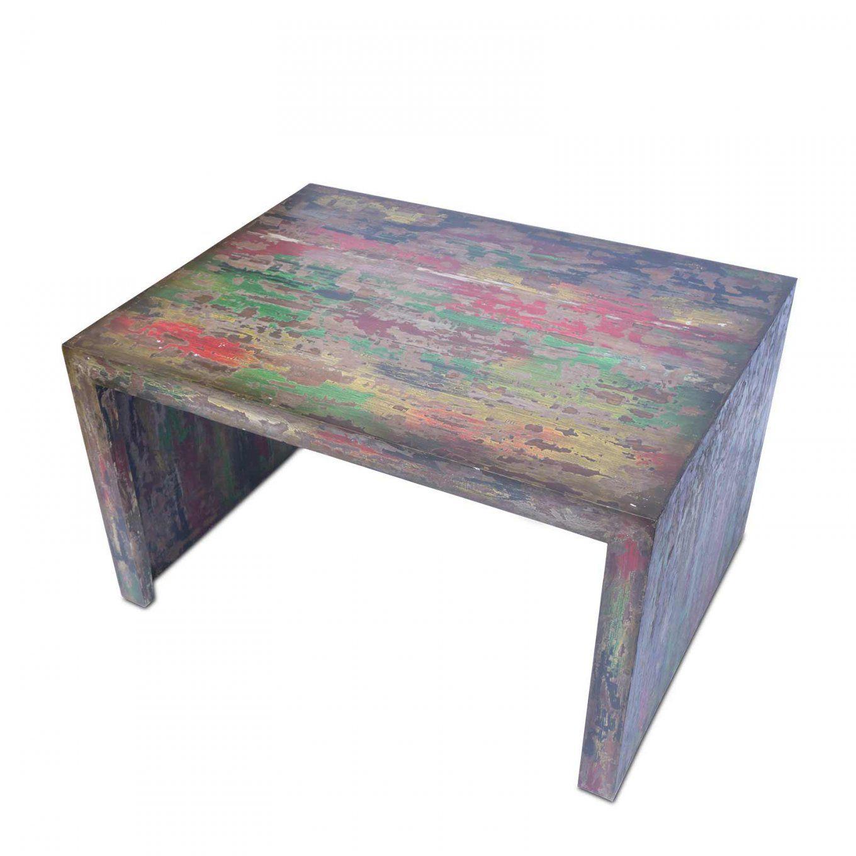 Couchtisch 80Cm X 60Cm X 45Cm Wohnzimmer Holztisch Holzmöbel Vintage von Couchtisch Vintage Bunt Bild