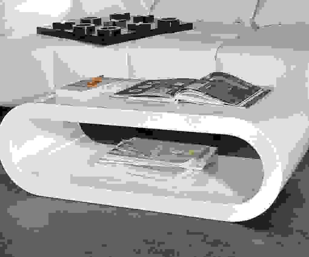 Couchtisch Hochglanz Weiß Oval Ufo  Esstisch von Couchtisch Hochglanz Weiß Oval Bild