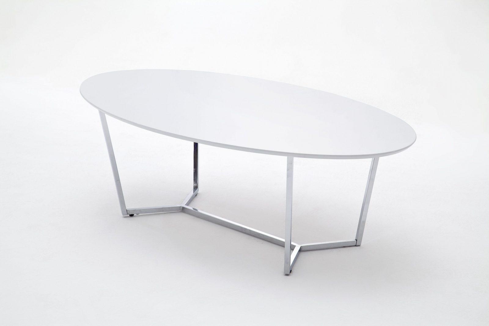 Couchtisch Hochglanz Weiss Chrom von Couchtisch Hochglanz Weiß Oval Bild