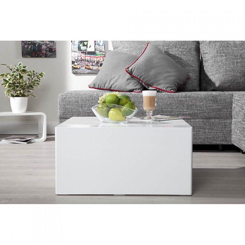 Couchtisch Quader 50X50 Weiss Hochglanz Beistelltisch Wohnzimmertisch von Couchtisch 50X50 Weiß Bild