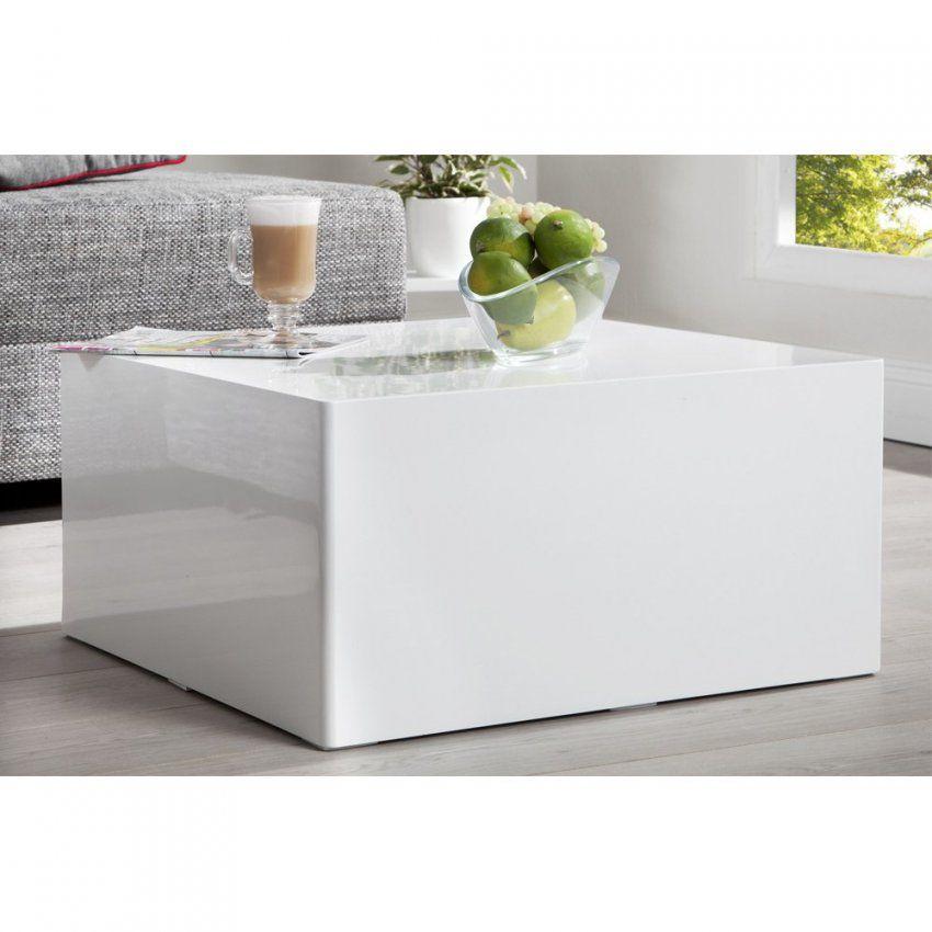 Couchtisch Quader 50X50 Weiss Hochglanz Beistelltisch Wohnzimmertisch von Couchtisch 50X50 Weiß Photo