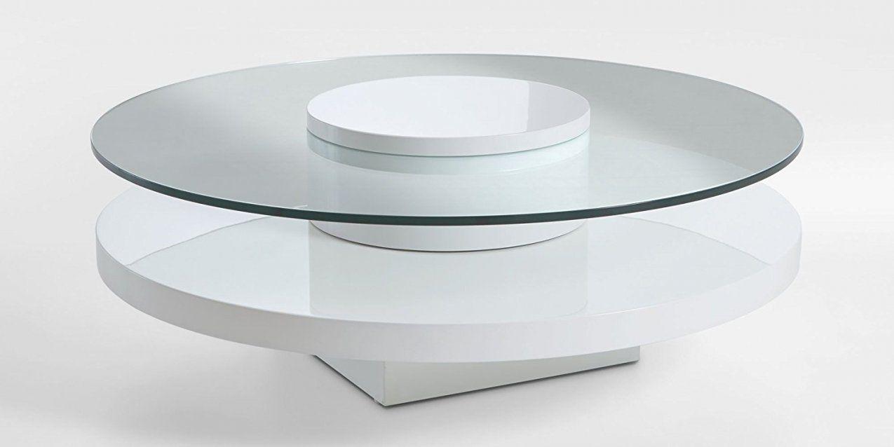 Couchtisch Rund Weis Design Beistelltisch Eiche Metall Holz Weiss von Beistelltisch Weiß Hochglanz Rund Bild