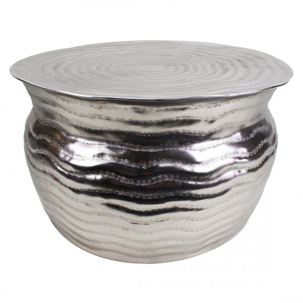 Couchtisch Silber Rund Finest Affordable Rund Couchtisch With Glas von Couchtisch Aluminium Rund Bild