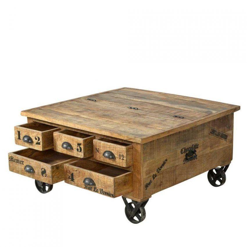 Couchtisch Truhe Brave Aus Mangoholz  Loft Design And Lofts von Couchtisch Loft Style Bild