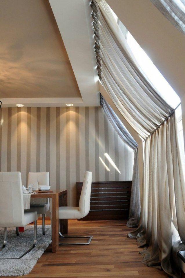 Dachfenster Sonnenschutz In Form Von Vorhängen Plissees Rollos von Gardinen Für Schräge Dachfenster Photo
