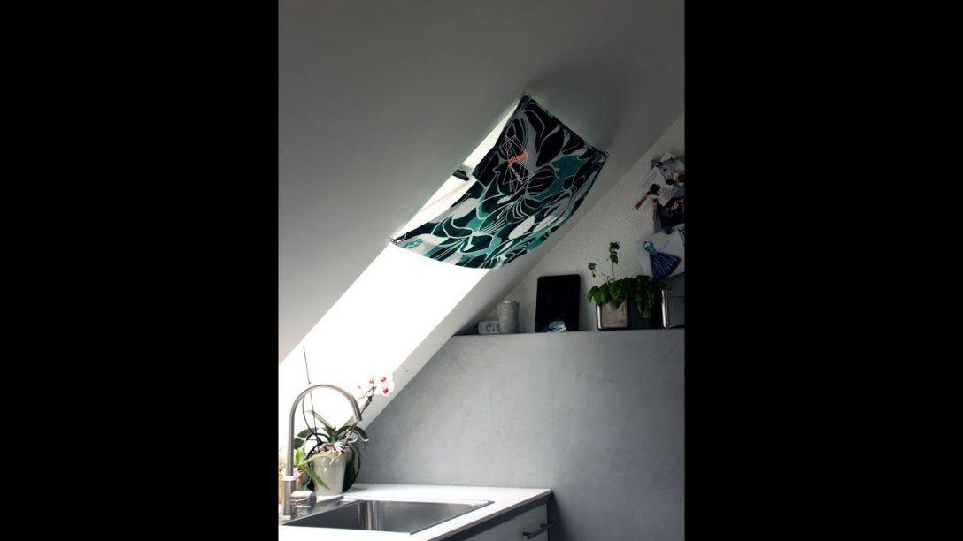 Dachfenster Vorhang Nähen Anleitung Mit Kostenlosem Schnitt  Youtube von Gardinen Für Dachfenster Selber Nähen Bild