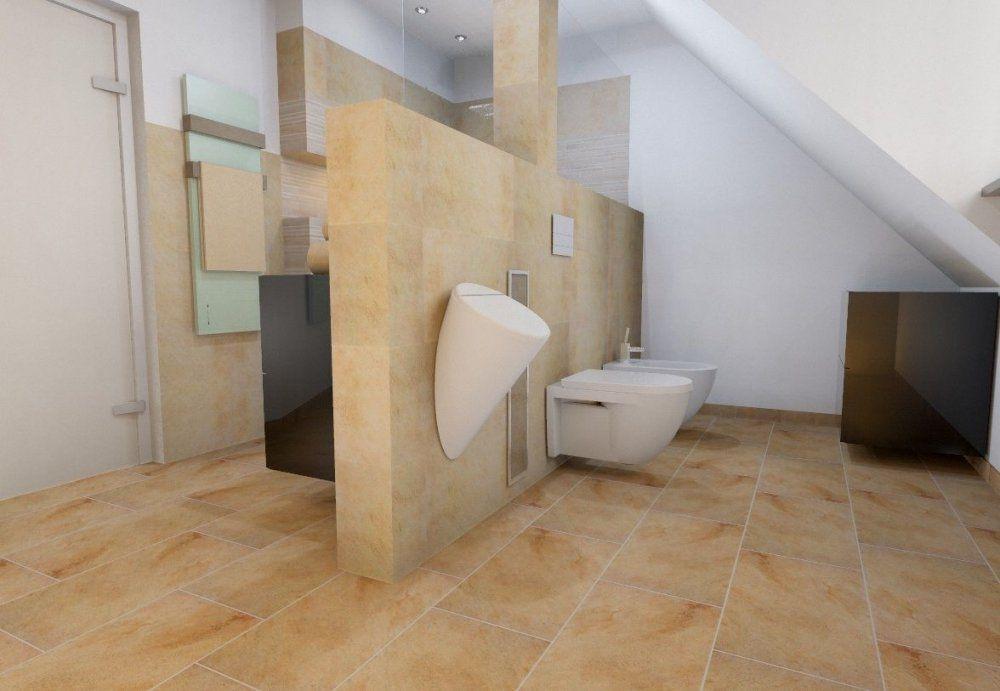 Dachschräge Im Bad Mit Raumteiler  Dachschräge  Pinterest von Bad Mit Dachschräge Planen Bild