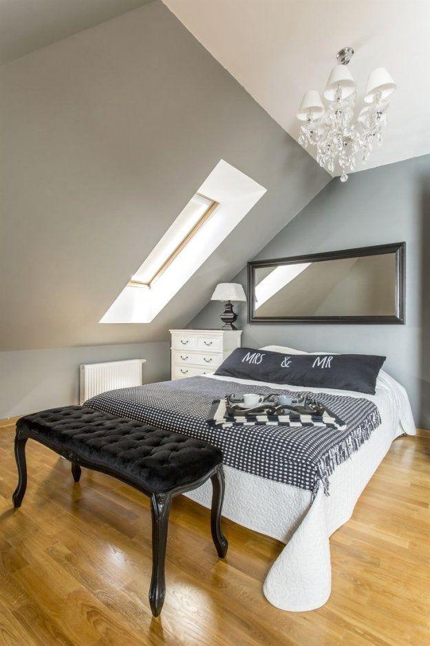 Dachschräge Streichen Mit Zweifarbige Wände Ideen Zum Tapezieren von Schräge Wände Streichen Ideen Bild