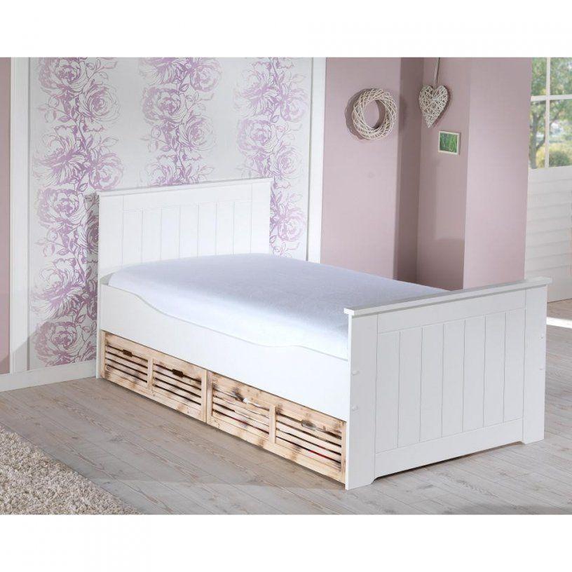 Dänisches Bettenlager Einzelbett Mit Bett Paulina 90X200 Weiß von Metallbett Weiß 90X200 Dänisches Bettenlager Bild
