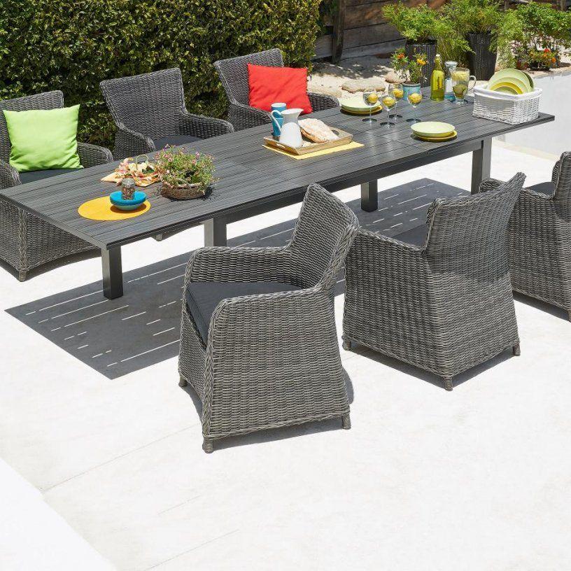 Gartenmobelset Alexispalermo 101x220 6 Stuhle Grau Danisches Von