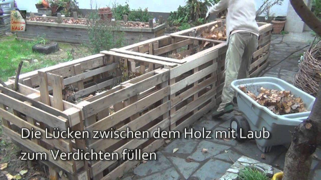 Das 5Qm Europaletten Hochbeet Howto  Youtube von Hochbeet Günstig Selber Machen Bild