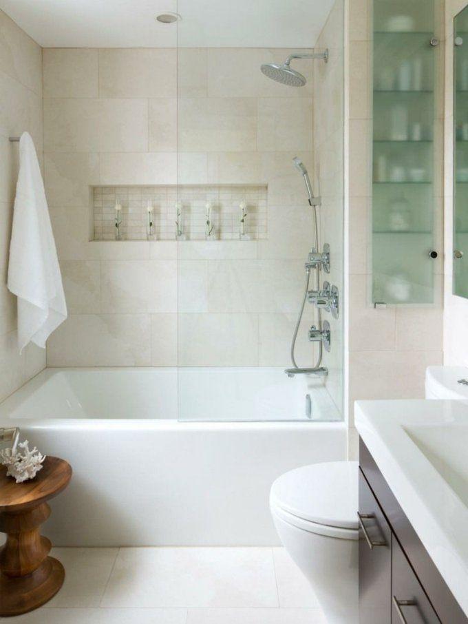 Das Badezimmer Mit Hellen Farben Optisch Vergrößern  Badezimmer von Kleines Bad Optisch Vergrößern Photo