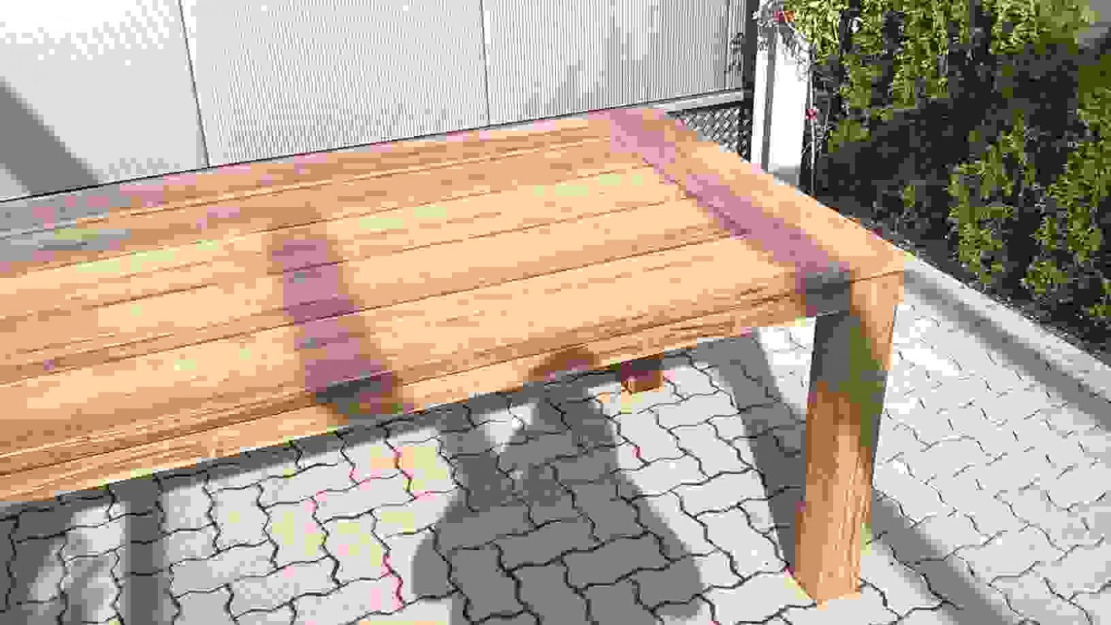 Gartentisch Selbst Bauen Und Gartenbank Aus Bohlen A Selber Von