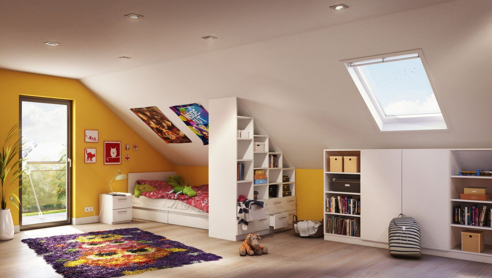 ... Wurde Mit Perfekt Passenden Maßmöbeln Von Kinderzimmer Mit Dachschräge  Einrichten Photo Kinderzimmer Mit Dachschräge Jugendzimmer Einrichten  Schrägen ...