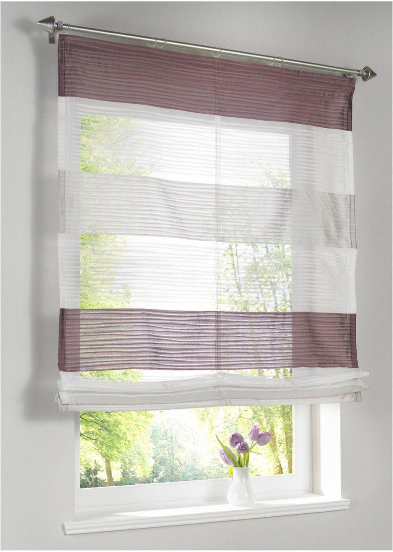 Das Highlight An Jedem Fenster Das Leicht Glänzenden Raffrollo von Gardinen Mit Klettband Günstig Bild