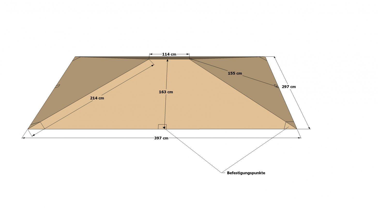 Dasversandhaus24  Ersatzdach Zu Pavillon Paris 3X4M Sand Plane von Pavillon Dach 3X4 Wasserdicht Bild