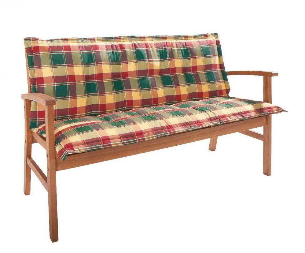 Dasversandhaus24  Kissen 200Cm Gartenbank  Karo  Gartenmöbel von Gartenbank Auflage Mit Rückenteil Bild