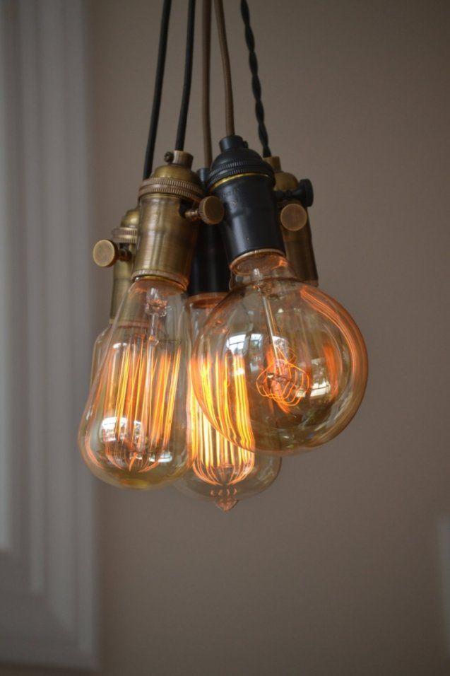 Deckenlampe Selber Bauen  Einfache Anleitung Und Ideen von Glühbirne Lampe Selber Machen Bild