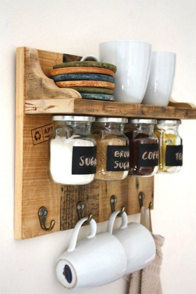 Deko Ideen Für Küche  28 Praktische Diy Halterungen von Küchen Regale Selber Bauen Photo