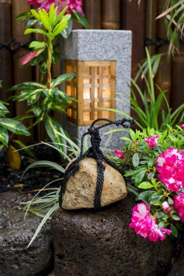 Deko Ideen Kleiner Japanischer Garten Stein Laterne Blumen Garden von Japanische Deko Für Den Garten Bild