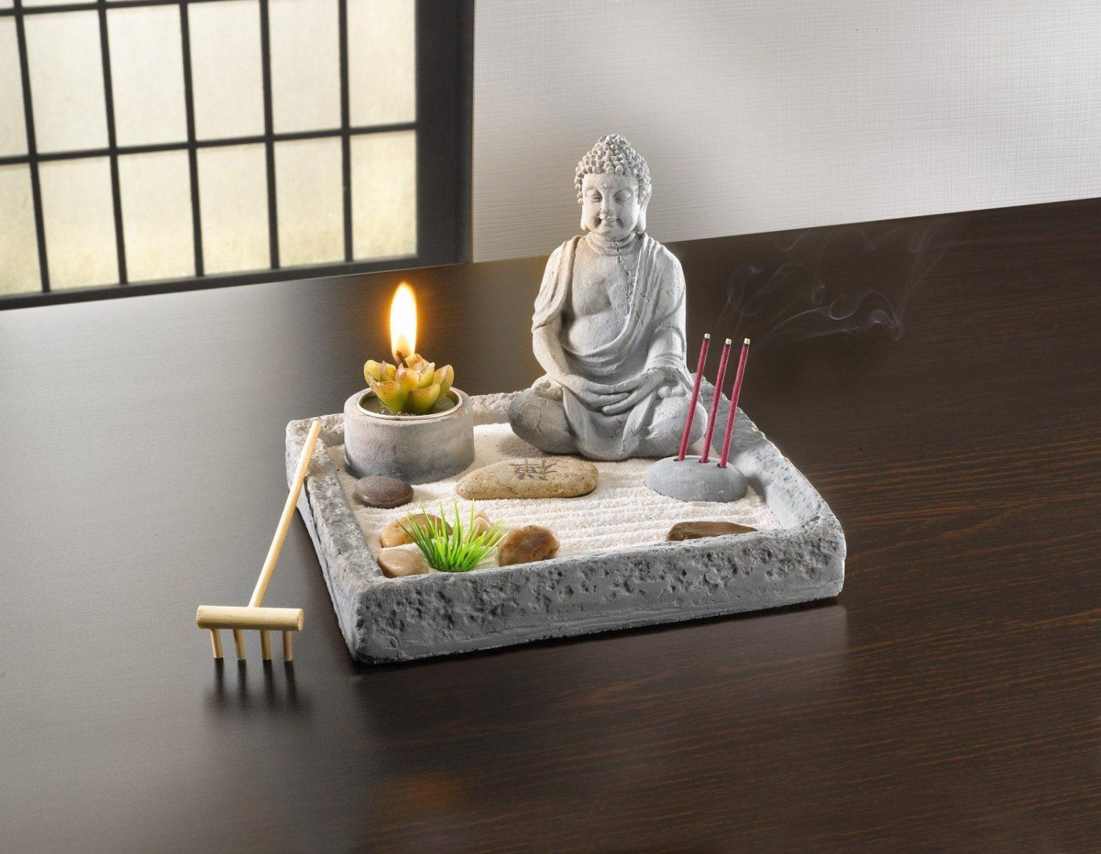 Deko Set Zen Garten Tischdeko Feng Shui Japan Asia Style Avec Zen von Japanische Deko Für Den Garten Photo