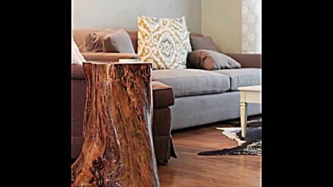 Deko Und Möbel Aus Baumstamm Selber Machen  15 Schnelle von Baumstamm Möbel Selber Machen Photo