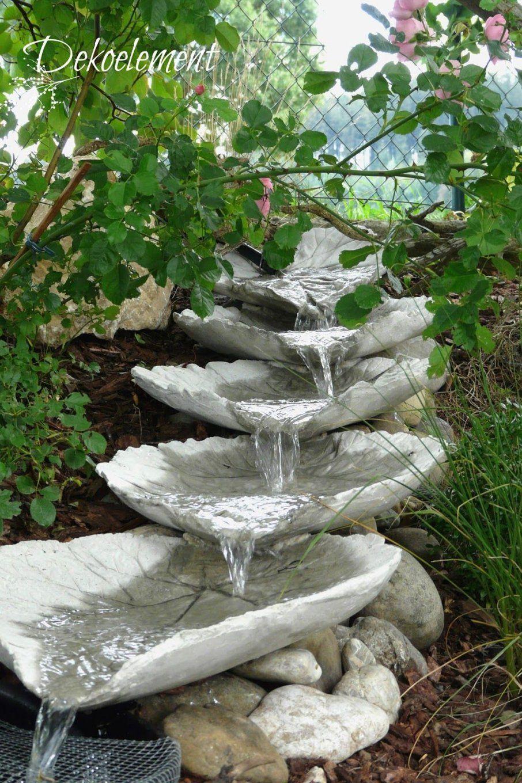 ... Dekoelement Bachlauf Aus Betonblätter Selber Bauen Garten Von  Wasserfall Brunnen Selber Bauen Bild ...