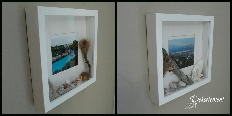 Dekoelement Urlaubsbilderrahmen  Urlaubserinnerungen Im Ribba von Ikea Bilderrahmen Ribba Aufhängen Photo
