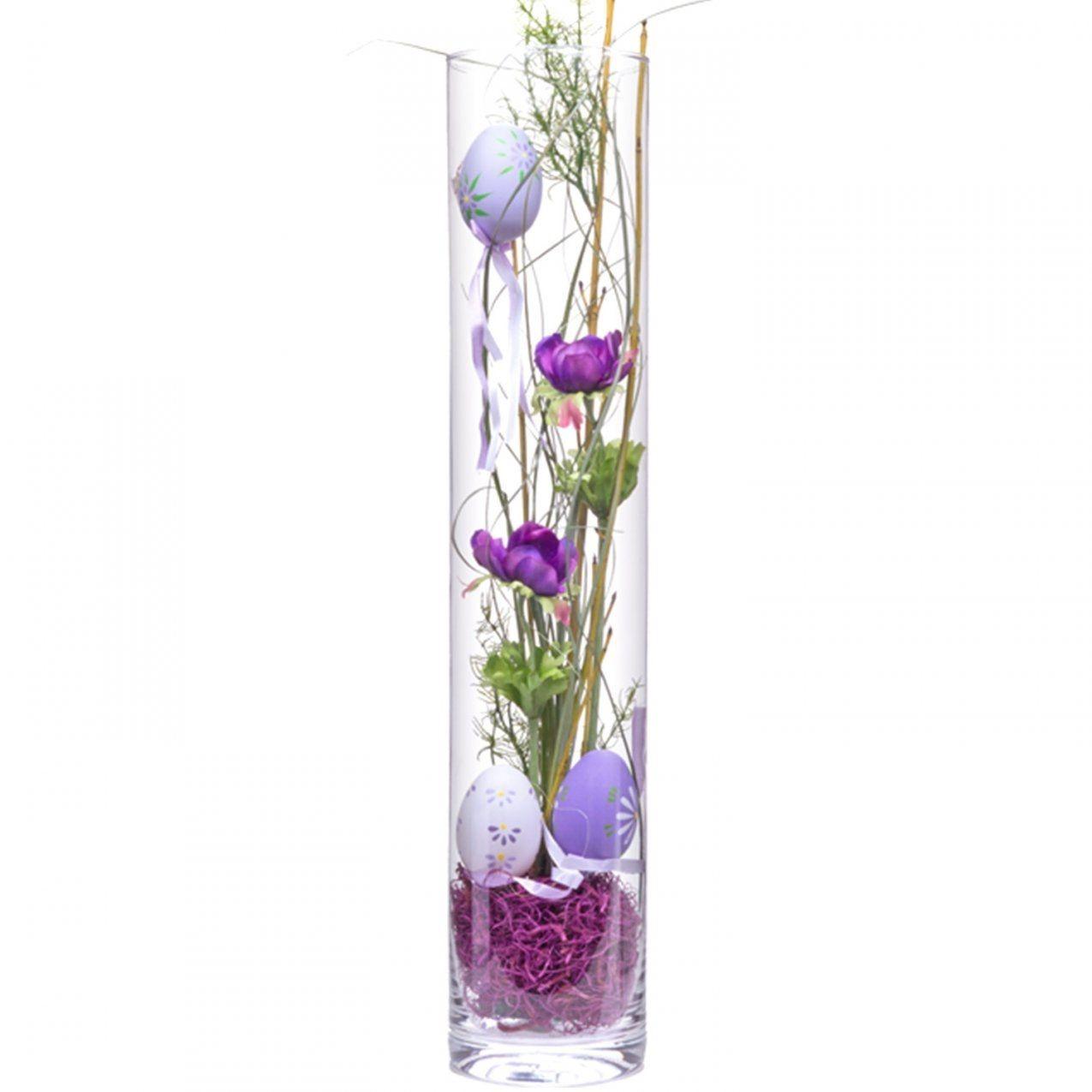 Dekoideen Große Glasvase Mit Deko Vase Ostern Lila 50Cm Jetzt von Dekoideen Für Große Glasvase Photo