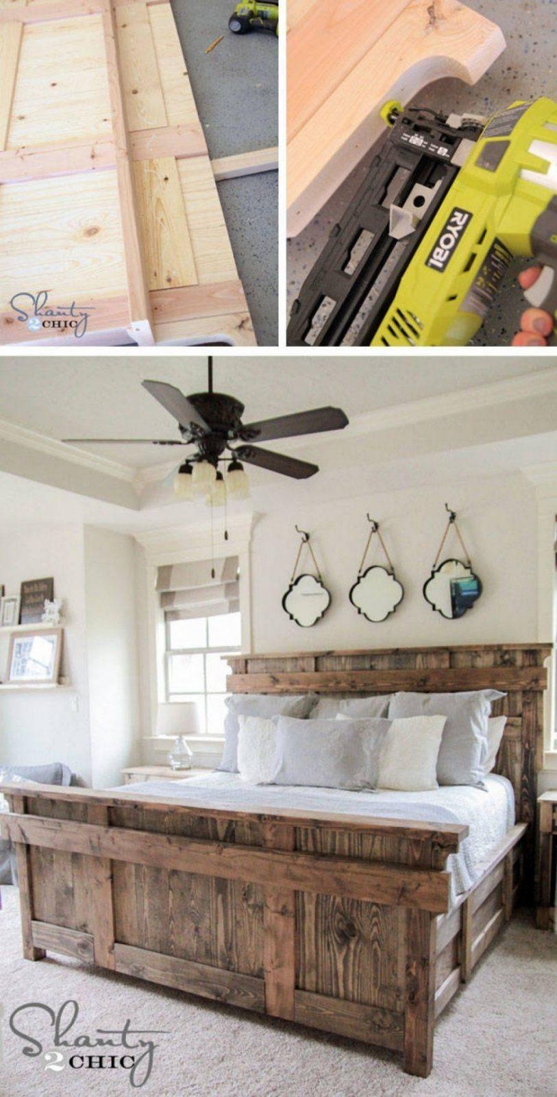 Dekorationen Ehrfurcht Gebietend Bett Kopfteil Selber Machen Bett von Bett Kopfteil Holz Selber Bauen Bild