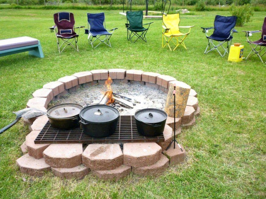 Dekorationen Ehrfurcht Gebietend Feuerstelle Im Garten