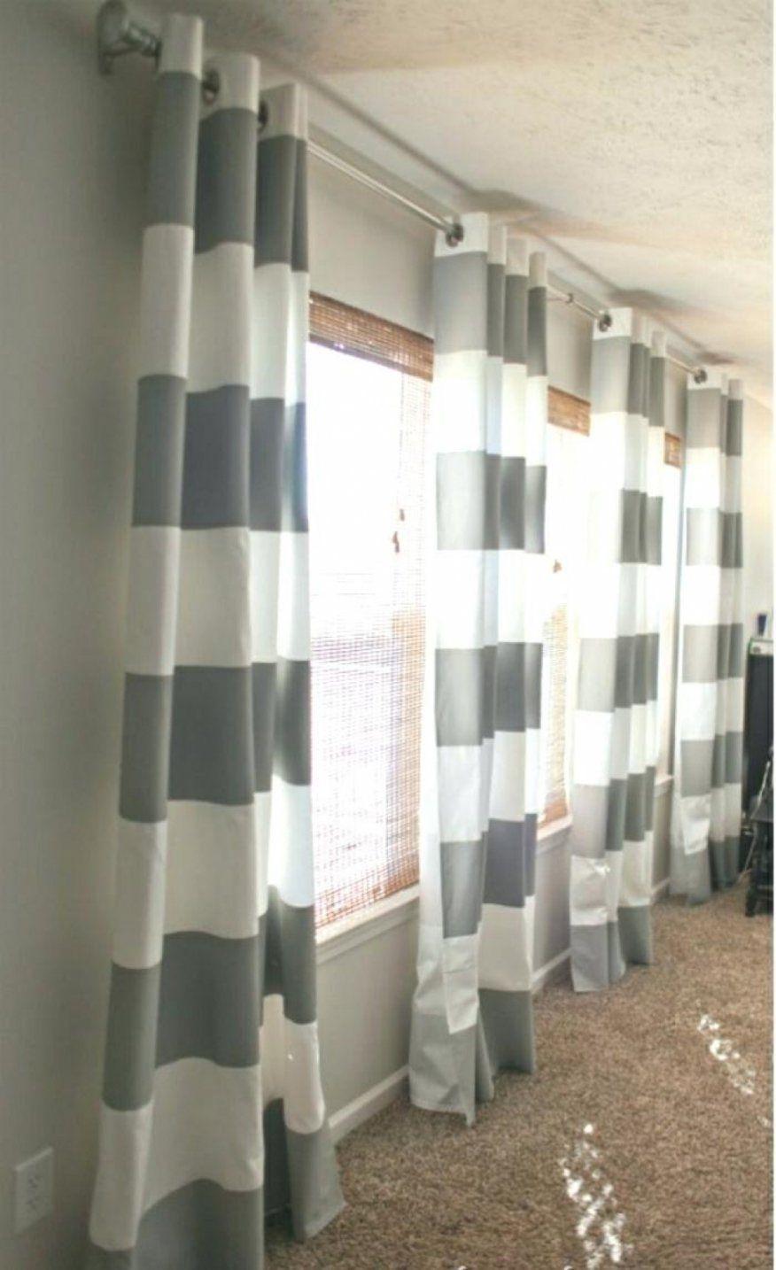 Dekorationen Stilvolle Vorhang Grau Weiß Gestreift Vorhang Blau von Vorhang Grau Weiß Gestreift Bild