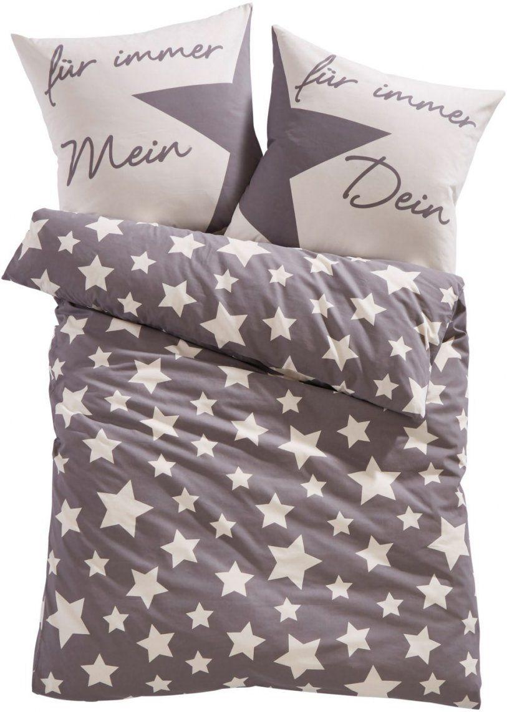 """Dekoriert Den Schlafbereich Die Bettwäsche """"lena""""mit Sternen  Grau von Bonprix Biber Bettwäsche Photo"""