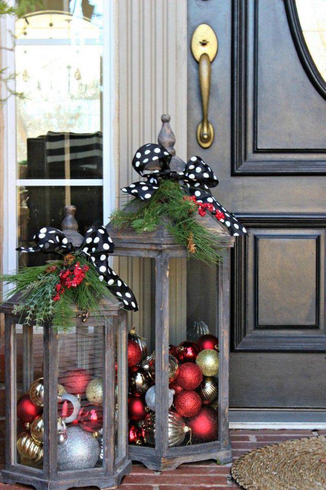 Den Hauseingang Weihnachtlich Dekorieren  18 Ideen Für Traumhafte von Deko Ideen Für Hauseingang Bild