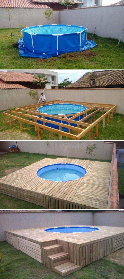runder pool im garten designs almo drg von runder pool im garten bild haus design ideen. Black Bedroom Furniture Sets. Home Design Ideas