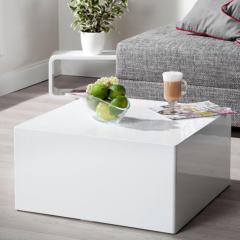 """Design Couchtisch """"quader Tisch"""" Beistelltisch Hochglanz Weiss 60 X von Couchtisch Weiß Hochglanz 60 X 60 Bild"""